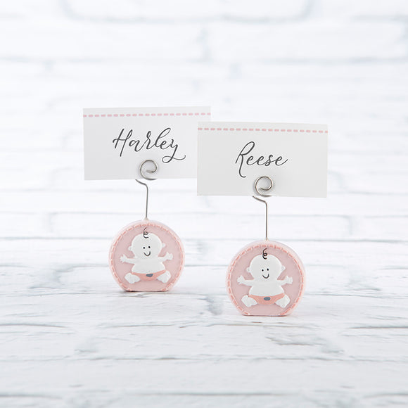 Baby Girl Pink Place Card Holder (Set of 6) - CLOSEOUT - InCasaGifts
