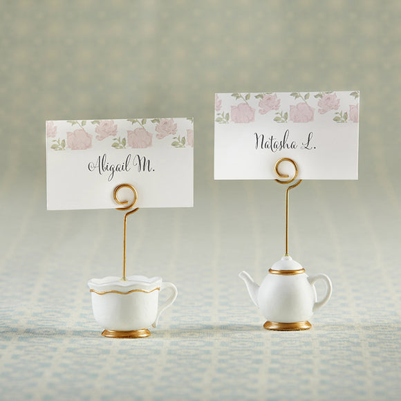 Tea Time Whimsy Place Card Holder (Set of 6) - InCasaGifts
