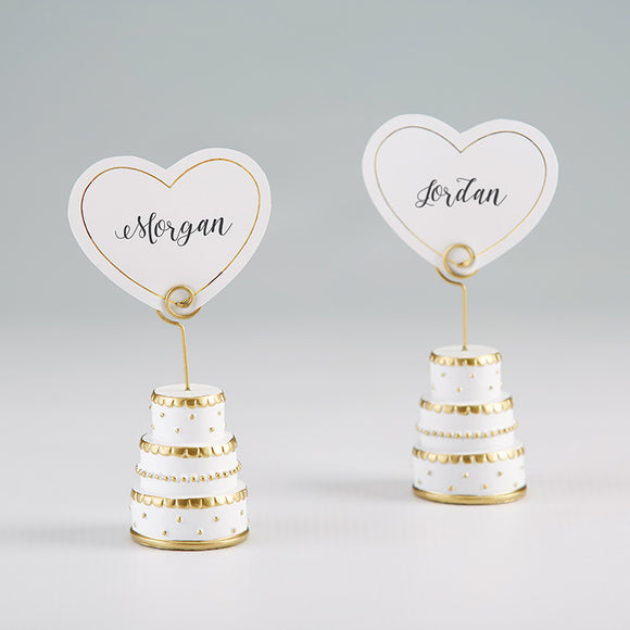 Gold Wedding Cake Place Card Holder (Set of 6) - InCasaGifts