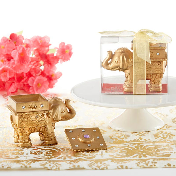 Lucky Golden Elephant Trinket Box - InCasaGifts