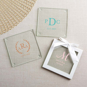 Personalized Glass Coaster - Monogram (Set of 12) - InCasaGifts