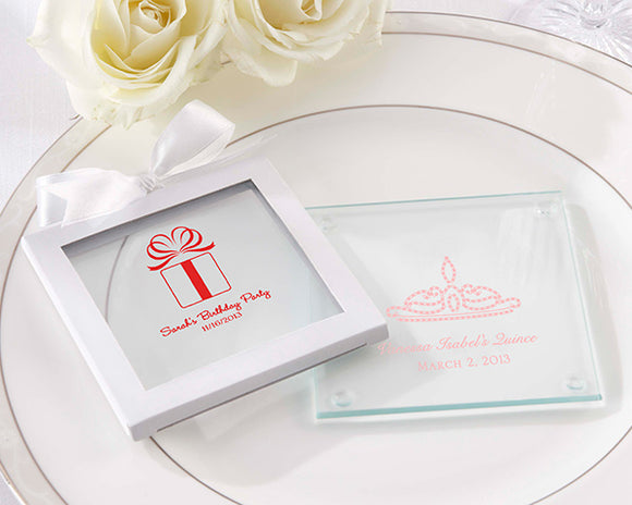 Personalized Glass Coaster - Birthday (Set of 12) - InCasaGifts
