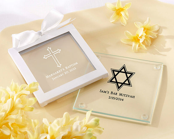 Personalized Glass Coaster - Religious (Set of 12) - InCasaGifts