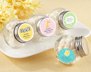 Mini Glass Favor Jar - Baby (Set of 12) (Personalization Cost Included!)
