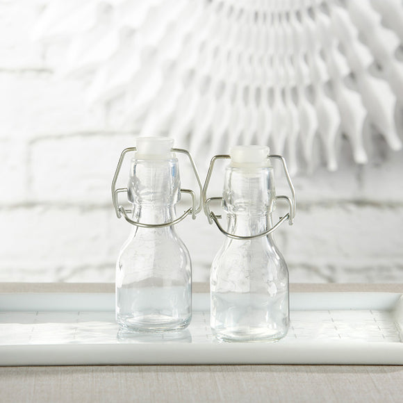 Mini Glass Favor Bottle with Swing Top - DIY (Set of 12) - InCasaGifts