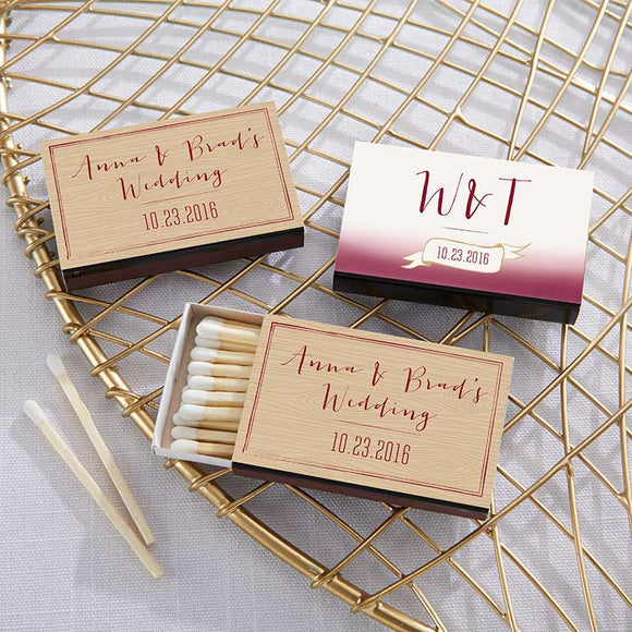 Personalized Black Matchboxes - Vineyard (Set of 50) - InCasaGifts