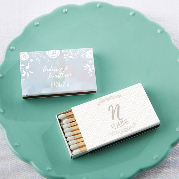 Personalized White Matchboxes - Ethereal (Set of 50) - InCasaGifts