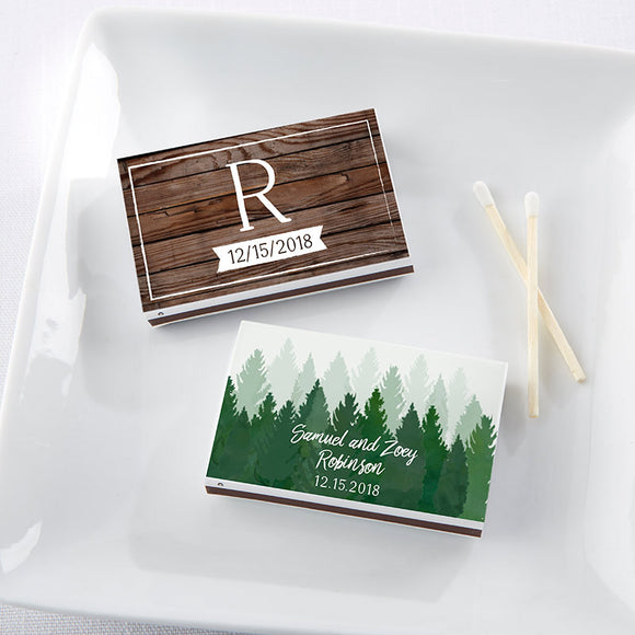 Personalized White Matchboxes - Winter (Set of 50) - InCasaGifts