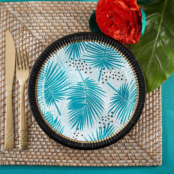 Tropical Chic 9 in. Paper Plates (Set of 8) - InCasaGifts