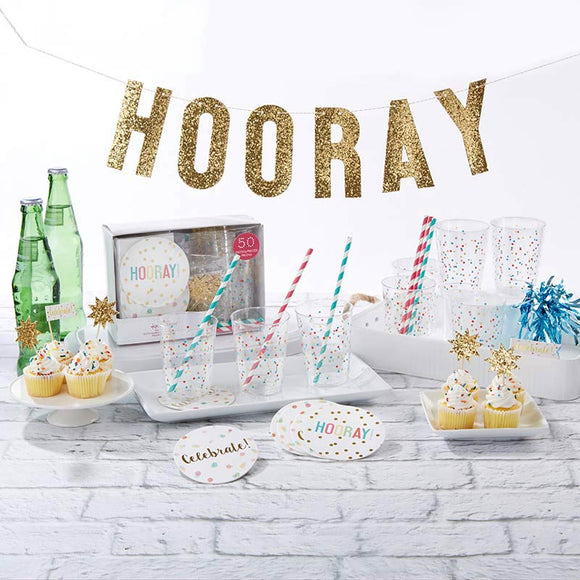 Hooray 50 Piece Party in a Box - InCasaGifts