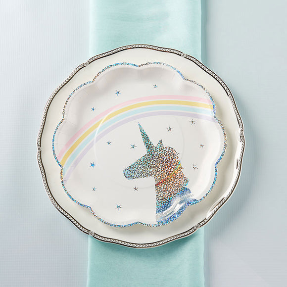 Enchanted Unicorn 9 in. Paper Plates (Set of 8) - InCasaGifts