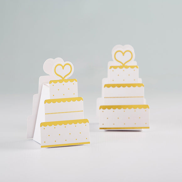 Gold Wedding Cake Favor Box (Set of 12) - InCasaGifts