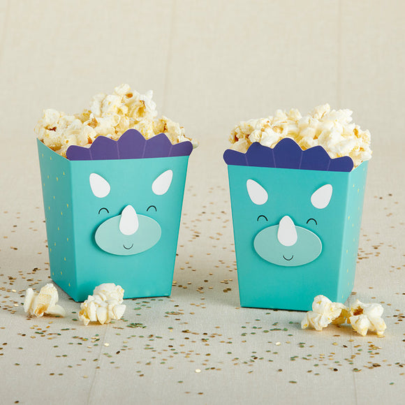 Dinosaur Popcorn Favor Box (Set of 12) - InCasaGifts
