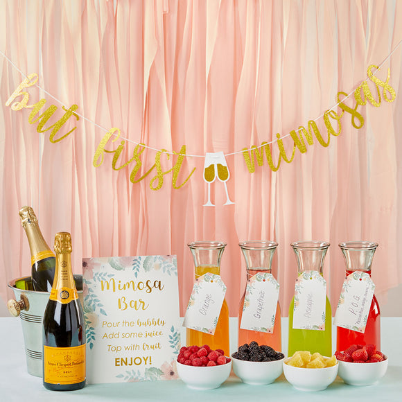 Mimosa Bar 10-Piece Kit - Gold Glitter - InCasaGifts