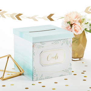 Geometric Floral Card Box