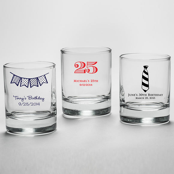 Personalized 2 oz. Shot Glass/Votive Holder - Birthday