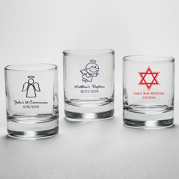 Personalized 2 oz. Shot Glass/Votive Holder - Religious - InCasaGifts