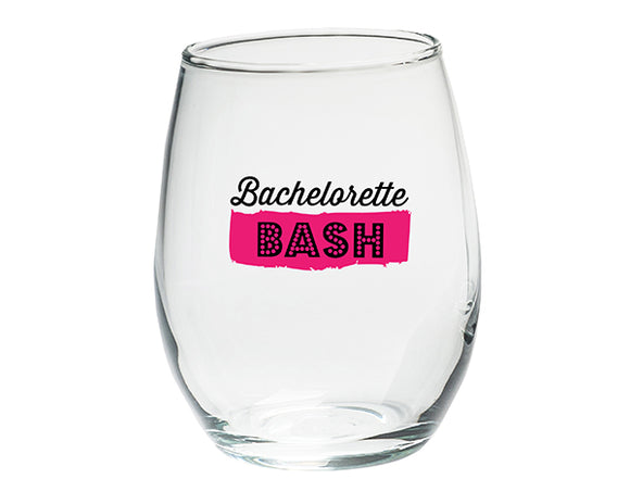 Bachelorette Bash 15 oz. Stemless Wine Glasses - (Set of 4) - InCasaGifts