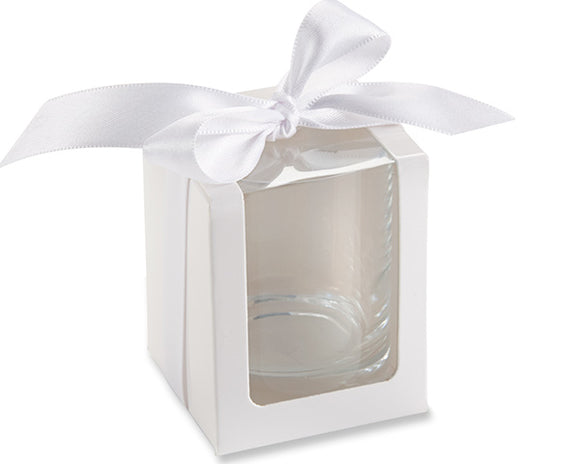 White Shot Glass/Votive Holder Gift Box (Set of 12) - InCasaGifts