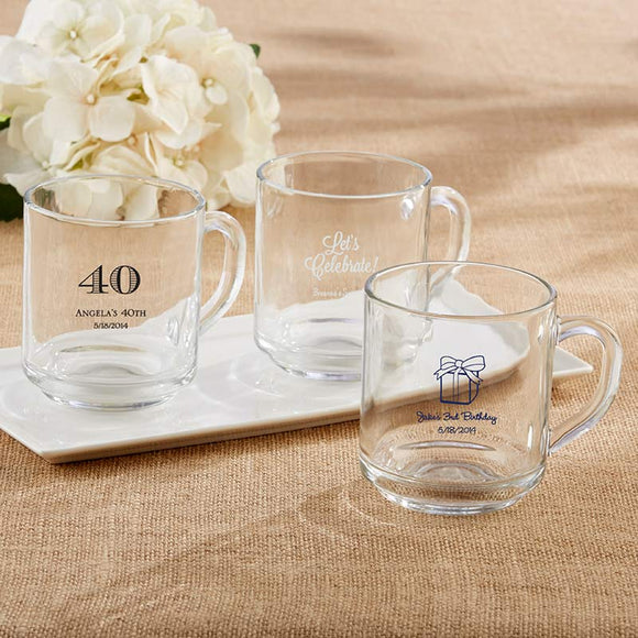 Personalized 10 oz. Glass Coffee Mug - Birthday