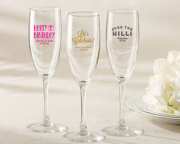 Personalized Champagne Flute - Birthday - InCasaGifts