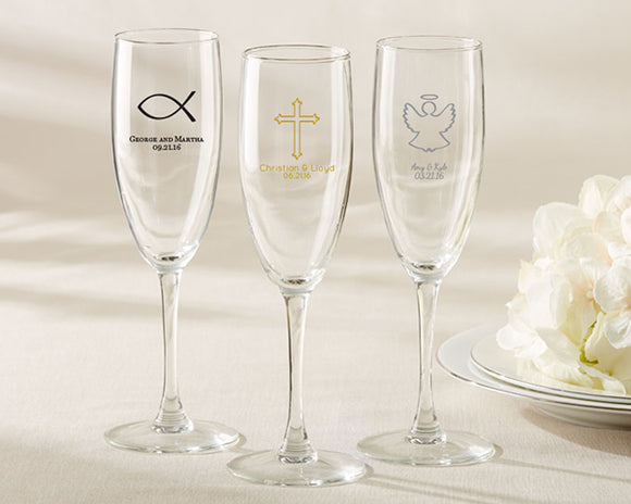 Personalized Champagne Flute - Religious