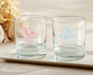 Personalized 9 oz. Rocks Glass - Baby Shower - InCasaGifts