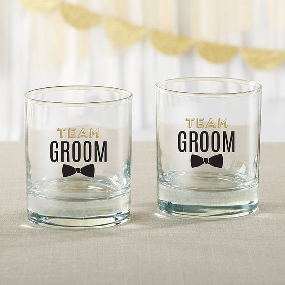 Team Groom 9 oz. Rocks Glass (Set of 4) - InCasaGifts