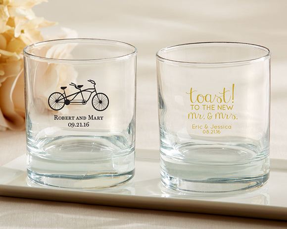 Personalized 9 oz. Rocks Glass - Wedding - InCasaGifts