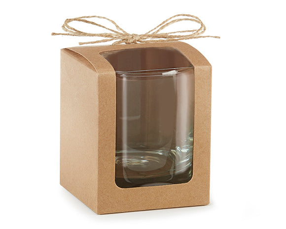 Kraft 9 oz. Glassware Gift Box with Twine (Set of 12) - InCasaGifts