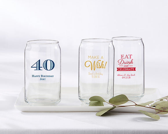 Personalized 16 oz. Can Glass - Birthday - InCasaGifts