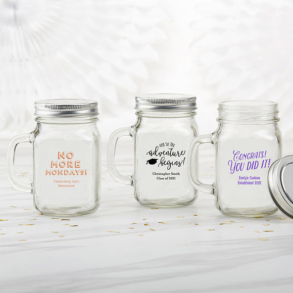Personalized 12 oz. Mason Jar Mug - Celebration - InCasaGifts