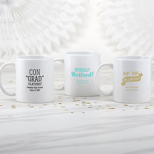 Personalized 11 oz. White Coffee Mug - Celebration - InCasaGifts