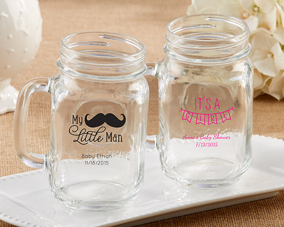 Personalized 16 oz. Mason Jar Mug - Baby - InCasaGifts