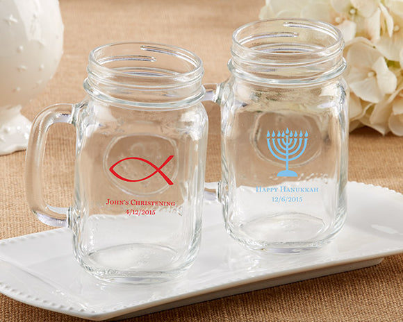 Personalized 16 oz. Mason Jar Mug - Religious - InCasaGifts