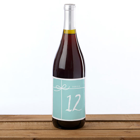 Wine Label Table Numbers - Something Blue (1-20) - InCasaGifts