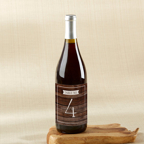Winter Wine Label Table Numbers (1-20) - InCasaGifts