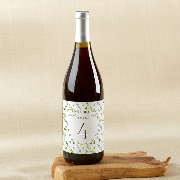 Botanical Garden Wine Label Table Numbers (1-20) - InCasaGifts