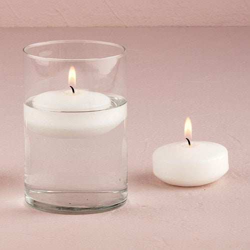 Decorative Round Floating Candles Small White