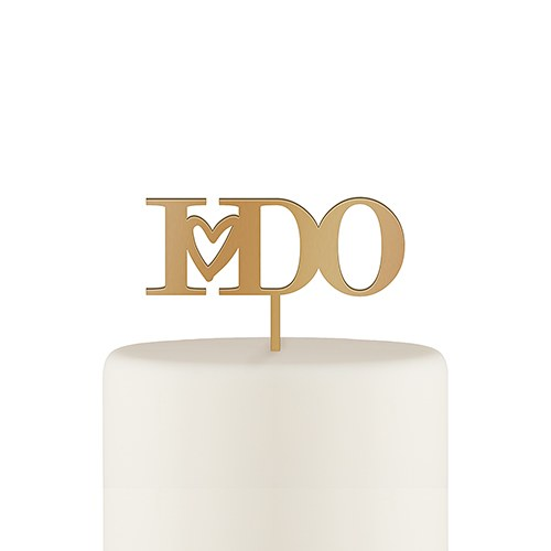 I Do Acrylic Cake Topper - Metallic Gold