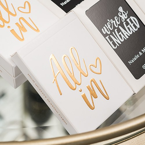 Gold Foil All In Playing Cards - InCasaGifts