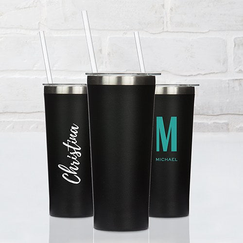 Black Stainless Steel Drink Tumbler - InCasaGifts