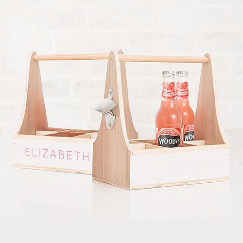 Wooden Bottle Caddy with Opener - InCasaGifts