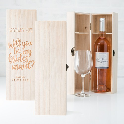 Wooden Wine Gift Box With Lid