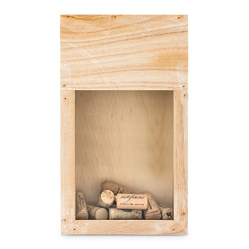 Wooden Wine Cork Holder Shadow Box - InCasaGifts
