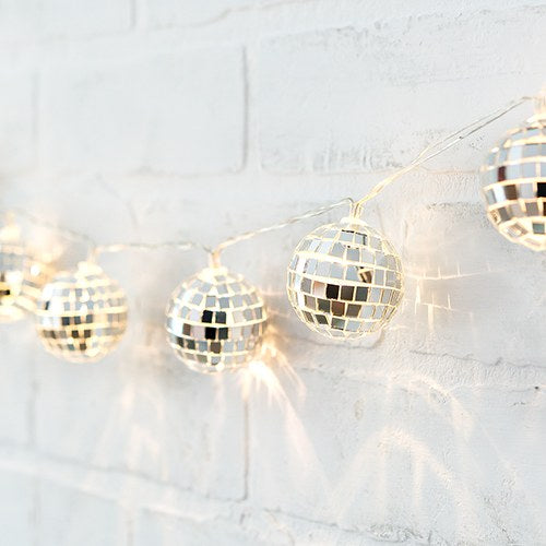 Decorative Battery Operated LED String Lights - Disco Ball - InCasaGifts