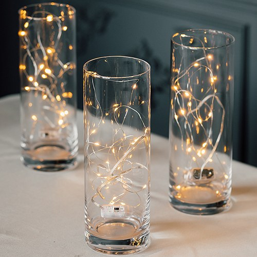Decorative Battery Operated LED String Lights - Silver Wire
