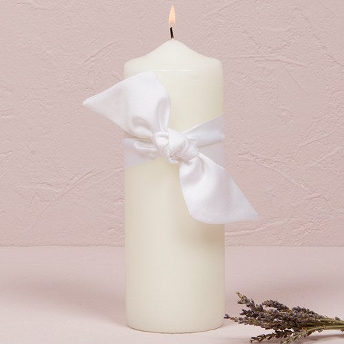 Beverly Clark Tie the Knot Collection Unity Candle White - InCasaGifts