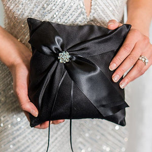 Beverly Clark Monroe Collection Ring Pillow Black