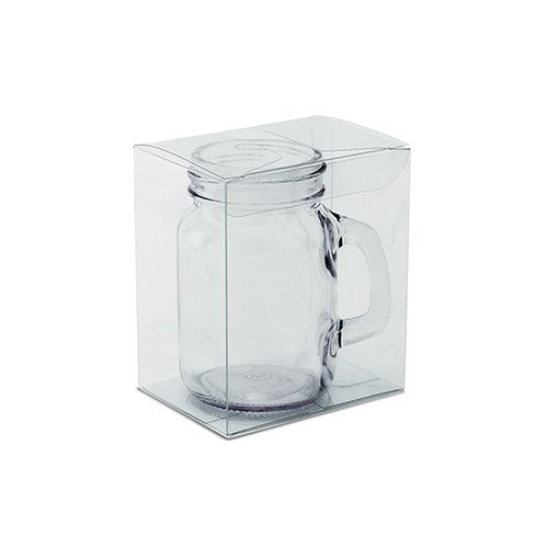 Mason Jar Shot Glass Clear Plastic Gift Box - InCasaGifts